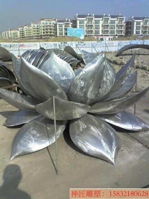 不锈钢荷花雕塑
