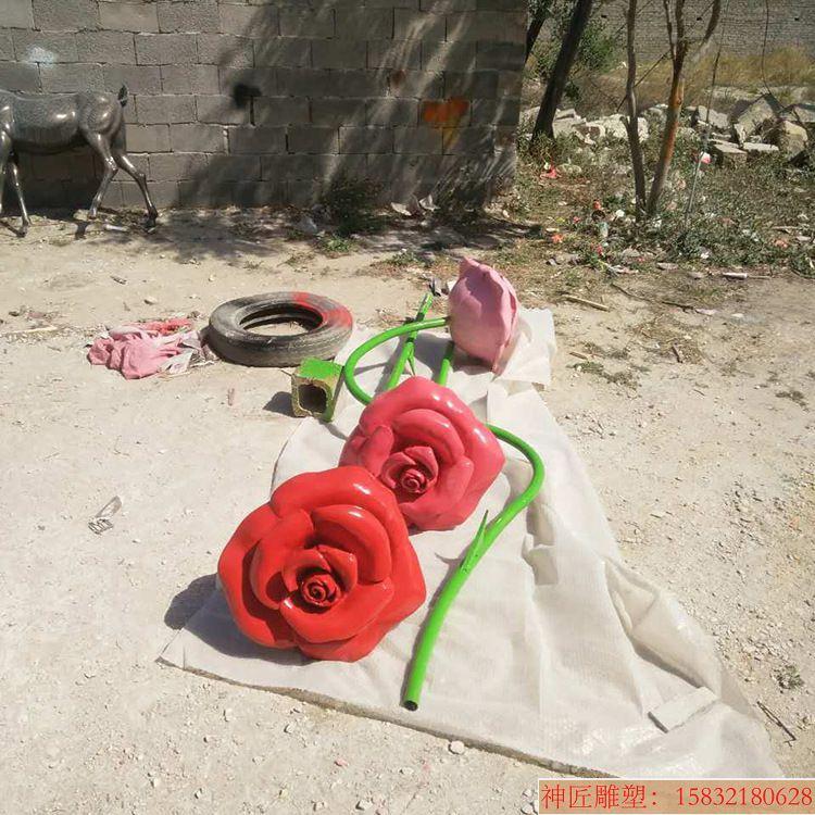 单支玫瑰花雕塑1