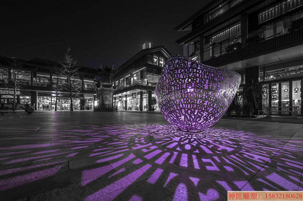 灯光镂空雕塑创意3