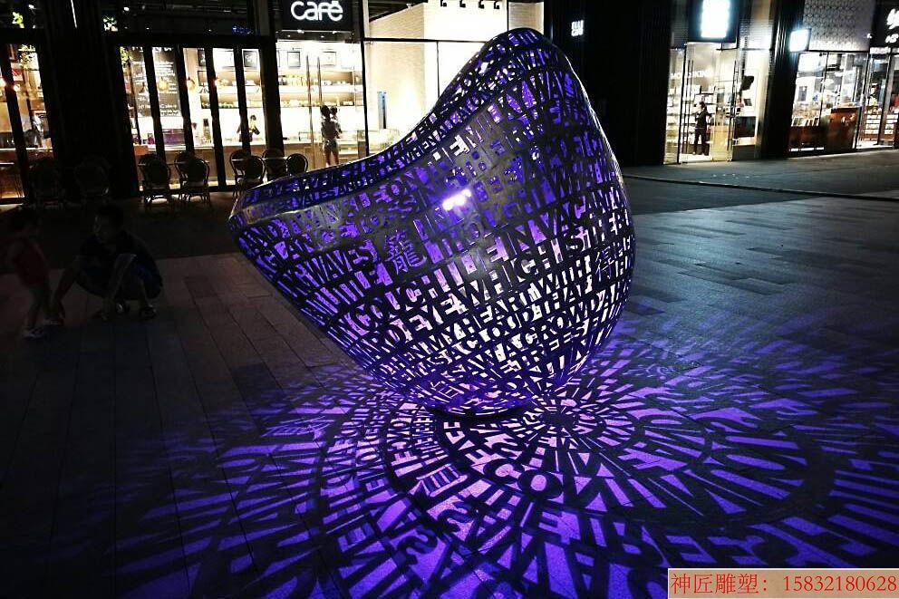 灯光镂空雕塑创意5